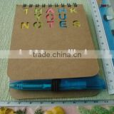 Custom mini recycled notepad set wholesale sticky notepad with pen
