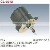 Windshield Wiper Motor/Windscreen Wiper Motor/Auto Wiper Motor For UNIVERSAL TYPE 55MM 24V MITSUBA WPM-3SS