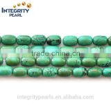 barrel shaped green synthetic wholesale turquoise large turquoise beads