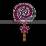 Candy Lollipop with Swirls Rhinestone transfer motifs for baby clothes