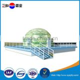 Panelized movable popular fiberglass prefab geodesic house dome