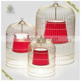 2016 Hot sale home indoor decorative hanging lights, bird cage pendant light for dinning room