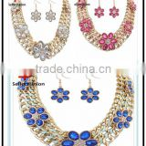 No.1 yiwu & ningbo exporting commission agent wanted fashion luxury costume heavy african jewelry sets necklace set