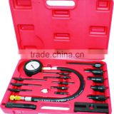 17 PIECE PRO DIESEL ENGINE CYLINDER COMPRESSION TEST TESTER KIT & GAUGE