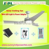 vent goods Ceiling Installation and Solar Power Source solar ceiling fan 12v DC fan