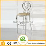 03# Modern Design Luxury Stainless Steel and Leather Bar Stool