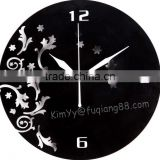 art wall clock as a gift could be send or household with black and white 2 choice colors