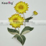 2017 new arrival beautiful embroidery flower patch design applique from keering WEF-765
