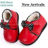 2014 Newest Winter Wholesale Soft Genuine Leather Girls Toddler Baby Boots Infant Shoes Factory