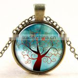 XP-TGN-LT-144 Popular Accessories Life Tree Pendant Family Diy Image Glass Cabochon Necklace For Gift Women Men Child