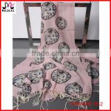 Latest new design dragonfly printed scarves and shawls 2015