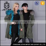 Newest arrival couple style blue fox fur coat with fur inside