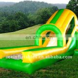 commercial inflatable water slide n slip