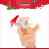 Custom plush christmas hand puppet for kid and adult