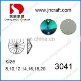 Round rivoli flat back sew on crystal stones for dress making