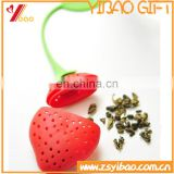 Chinese supplier Strawberry Shaped silicon Tea Infusers with customized logo