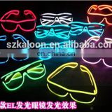 New generation EL wire glasses different size multi-color of 1.4mm/2.3mm/ 3.2mm/ 5.0mm wholesale