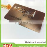 Top quality factory price copper Finishing Metal business card