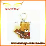 visual animal wooden keychain
