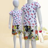 Japanese children's printed short-sleeved T-shirt wear new summer comfort breathable, combed and combed cotton