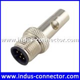 Equivalent to binder connector for sensor molded 8 pins waterproof