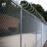 Easily Install Chain Link Fence Fabric Green Color PVC Coated MaterialsHot Dipped Galvanized Chain Link Fence Slats / Panels Heavy Duty Sliding Gates 5 Foot