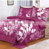 1Pc Customized Microfiber Jacquard Rose Red Flowers And White Leaves Printed Bridal Wedding Bedding Set