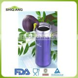 2013 innovative bpa free stainless steel waterproof vacuum thermal mug with hook and filter