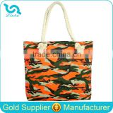Heavy Duty Canvas Tote Bags Custom Camouflage Printed Canvas Tote Bag Rope Handle