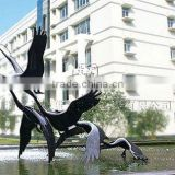 fiberglass steel birds outdoor sculpture/staue for sale