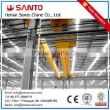 Safe Driving 50ton winch trolley steel factory electric double girder motor overhead crane