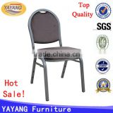 Metal frame fabric event banquet tiffany cheap stacking hall chair in living room furniture