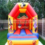 bouncy castle with climbing wall/ bounce castle/ cheap inflatable bouncer playground