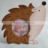 Hedgehog cartoon frame, kids cartoon frame, wooden baby photo frame, picture frame