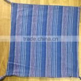 Broad and medium stripe yarn dyed coloured cushion cover
