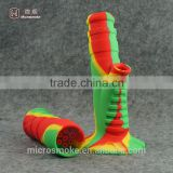 Manufacturers 10colors Silicone glass smoking water pipe oil rigs glass water pipe Dab Jar Dabber Wax