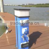 stainless steel electrical power pedestal for floating dock