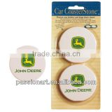 Absorbent Sandstone Ceramic Coaster for car