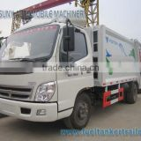 Foton 4x2 2cbm 3cbm 4cbm small compression garbage truck refuse truck 2axles