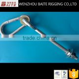 Swing hook with bolt with nut and plastic washer in carbiner rigging hardware china factory