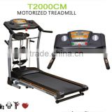 T2000CM best home use 1.5hp treadmill fitness equipment with massager and sit up functions