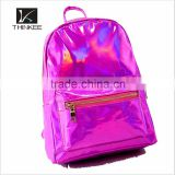Fashion laser glossy PU leather backpack