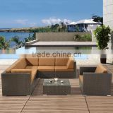 Outdoor Resin Rattan Wicker Woven Terrace Dining Lounge Settings Lounge Around Furniture                                                                         Quality Choice