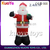 2.4m inflatable santa Claus for Christmas, inflatable Christmas decoration supplier, inflatable santa indoor