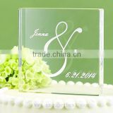 China Supplier clear acrylic wedding cake topper with logo