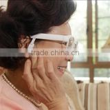 smart bone conduction bluetooth far-sighted long distance glasses with hearing aid for the senior