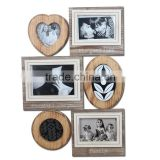 W50101 wall photo frames with six photo picture frame from Chinese factory