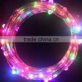 Silver Wire String Light / 40 Ft / 240 Micro Led's RGB Multi - Color / 12v Power Adapter /Perfect Application for Christmas