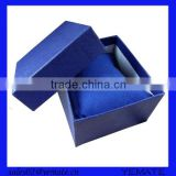 Wholesale price blue fancy paper mens hand watch packaging box with pillow inside