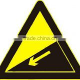 Reflective triangle warning traffic signs,safety traffic sign,aluminum traffic portable traffic sign